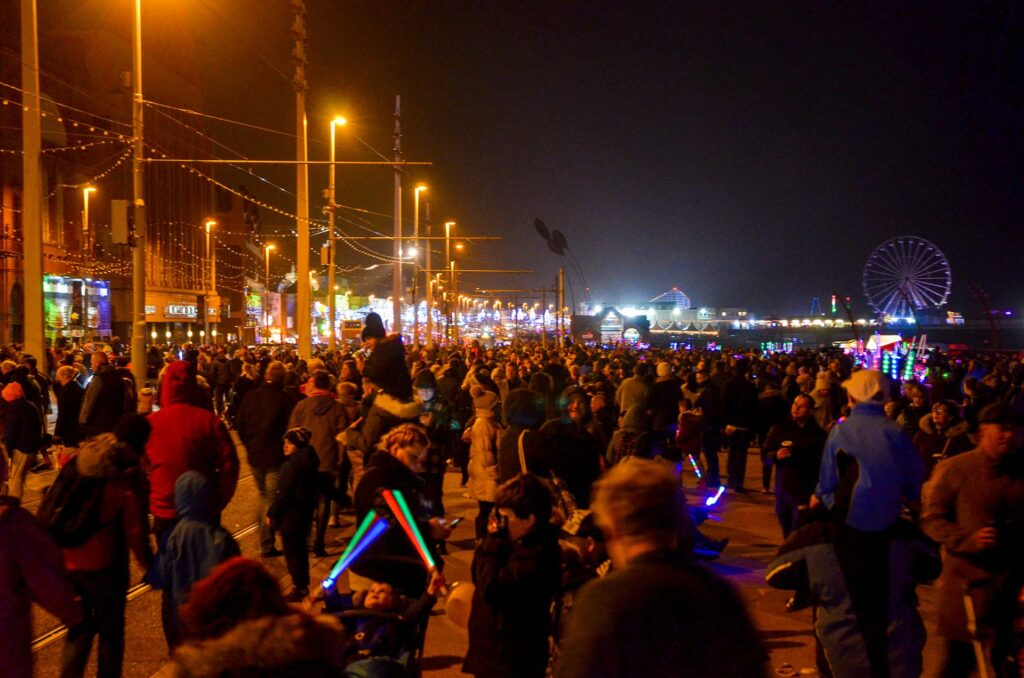 Packed promenade for Blackpool World Fireworks Competition