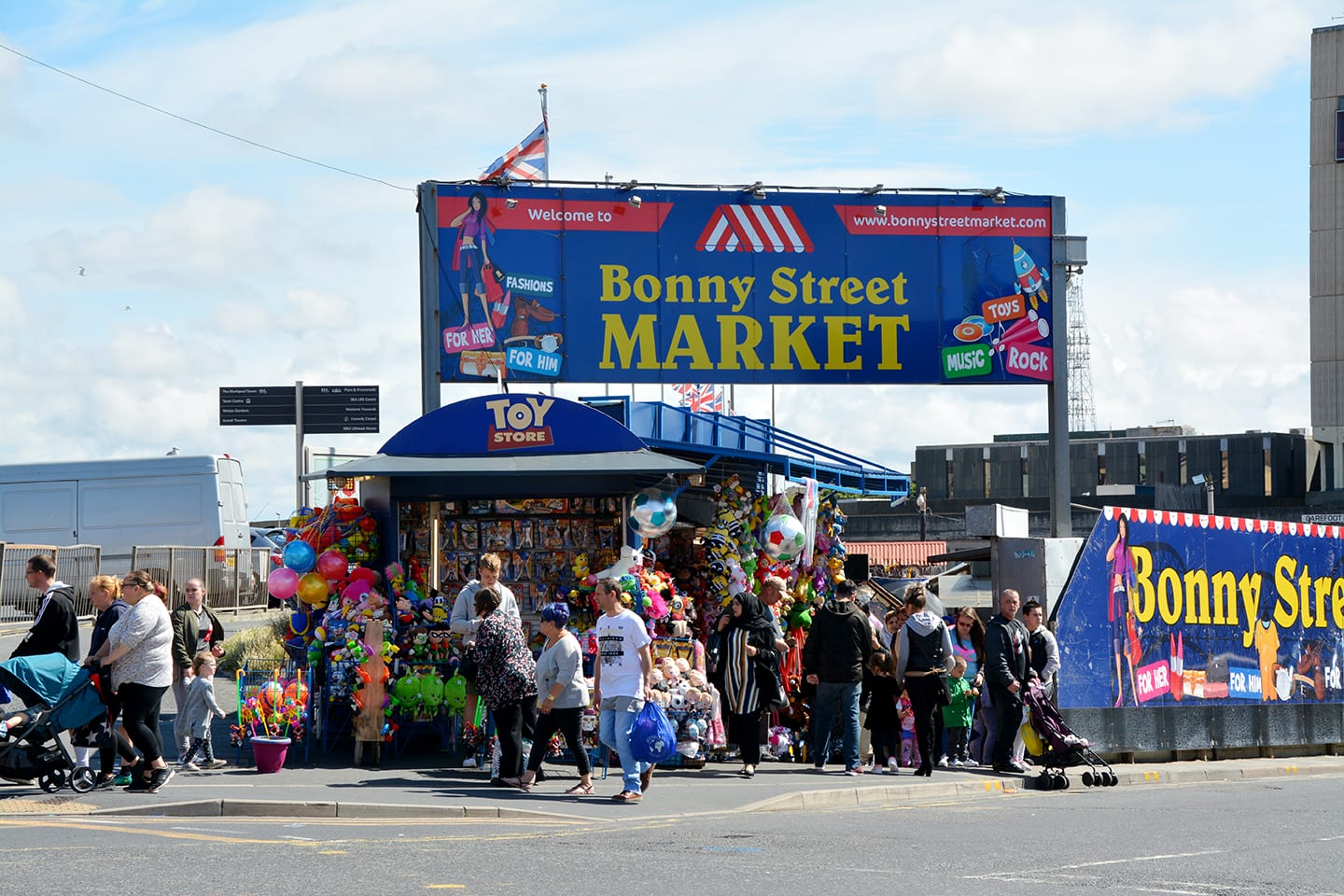 Bonny Street Market in Blackpool Town Centre