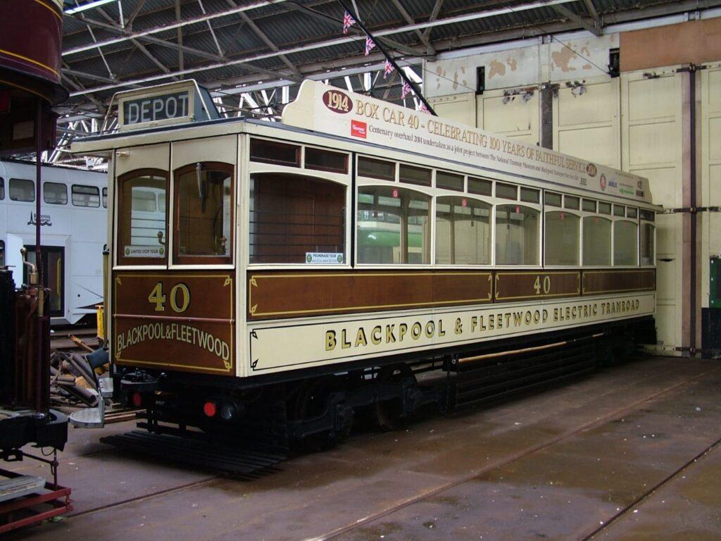 Box Car 40 refurbished in 2018, Blackpool Heritage Trams