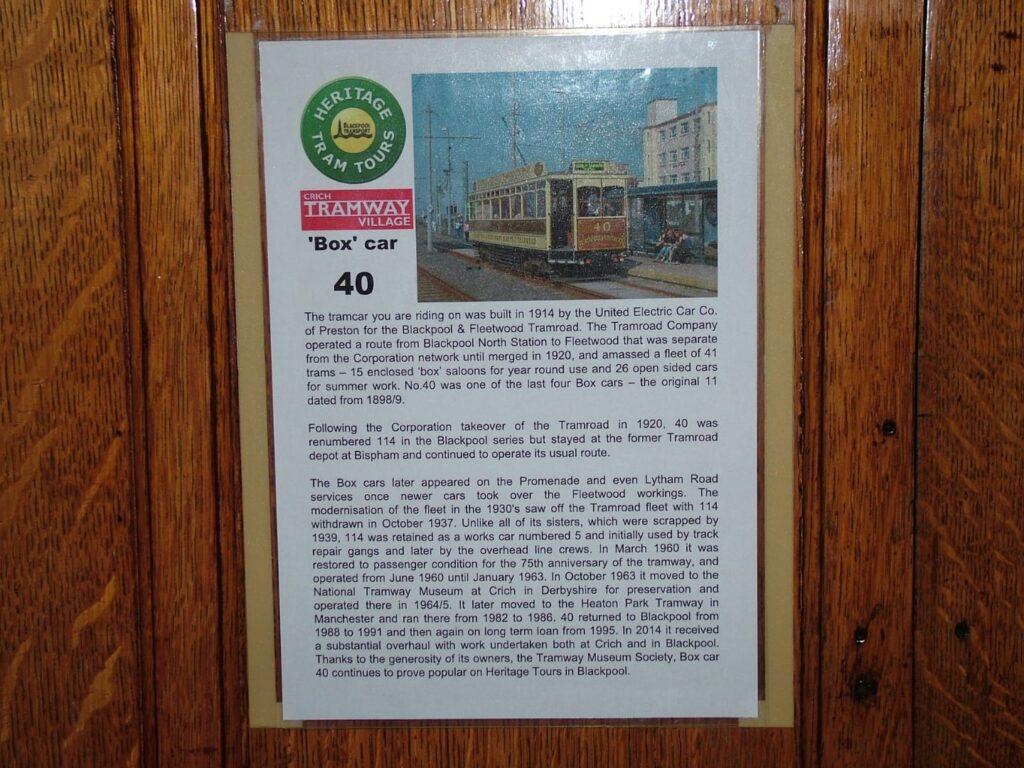 Box Car 40 historical information