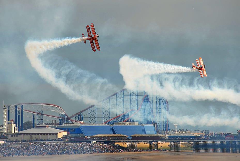 Breitling Wingwalkers at Blackpool Airshow