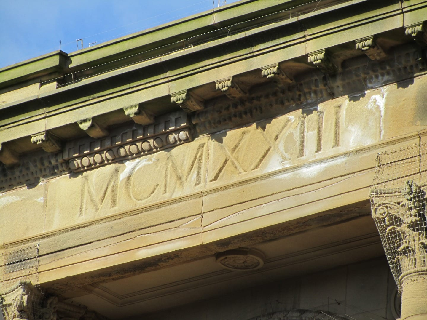 Traces of Blackpool's past on Clifton Street, above Hogarths