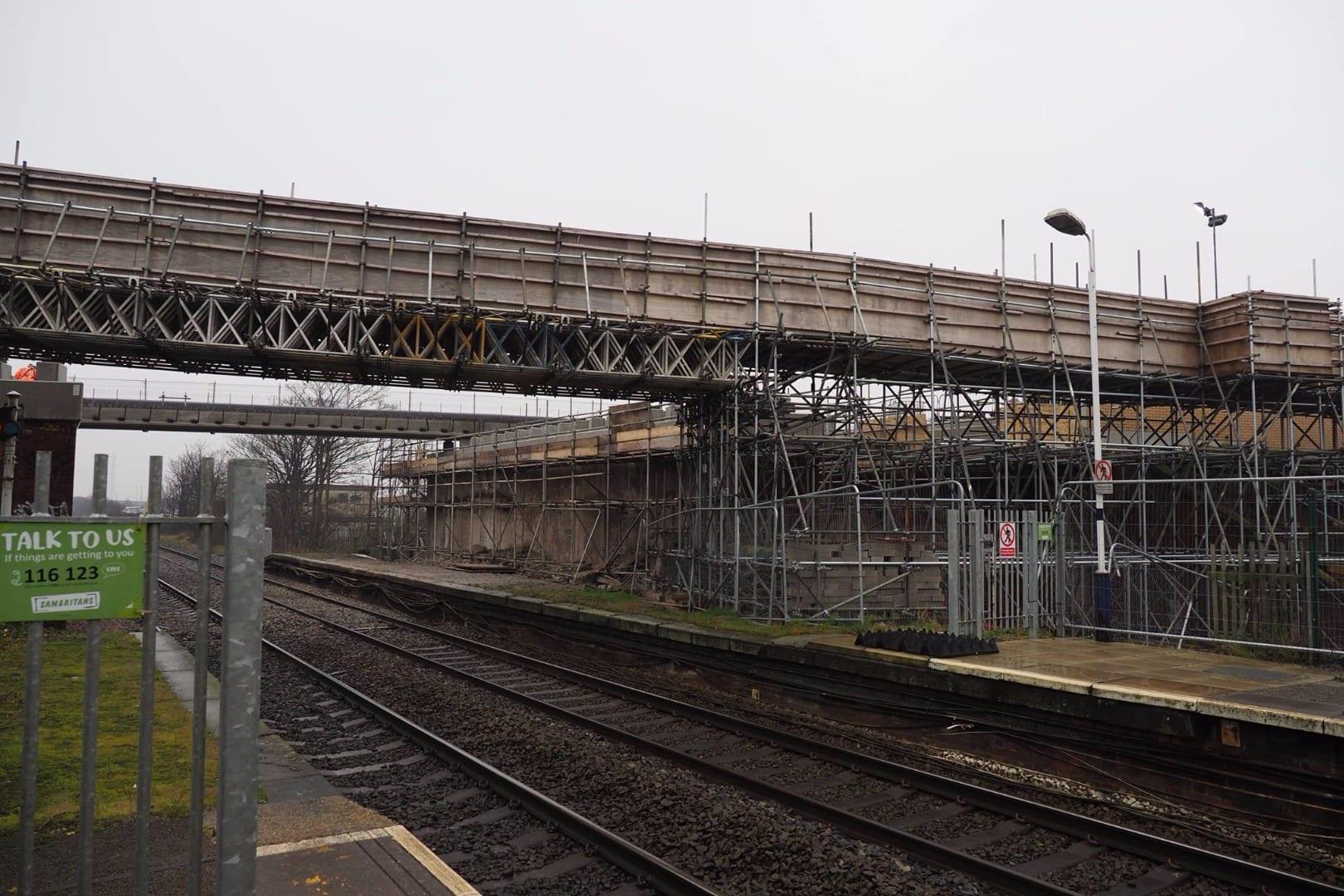 Crossleys bridge, January 2017, photo by Steve Palmer