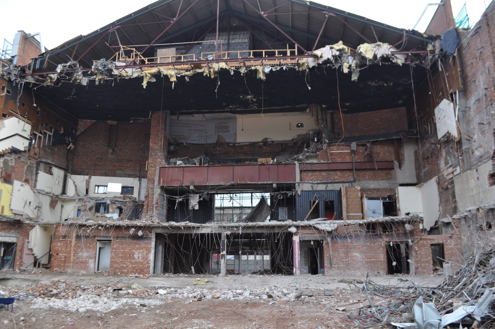 Demolition of Syndicate, Blackpool, photo from Juliette Gregson