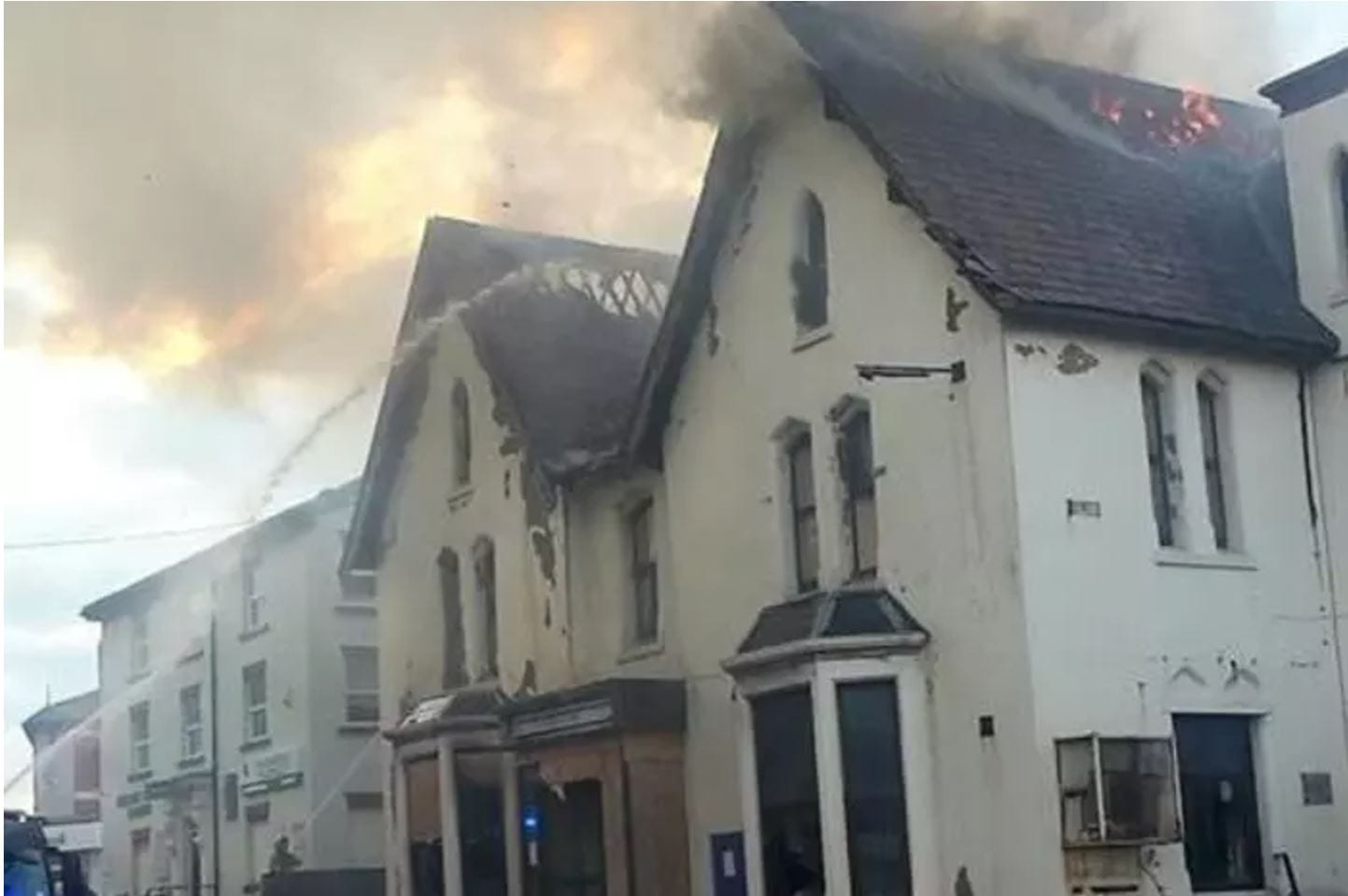 Fire at the Comrades Club in Blackpool - photo Blackpool Gazette