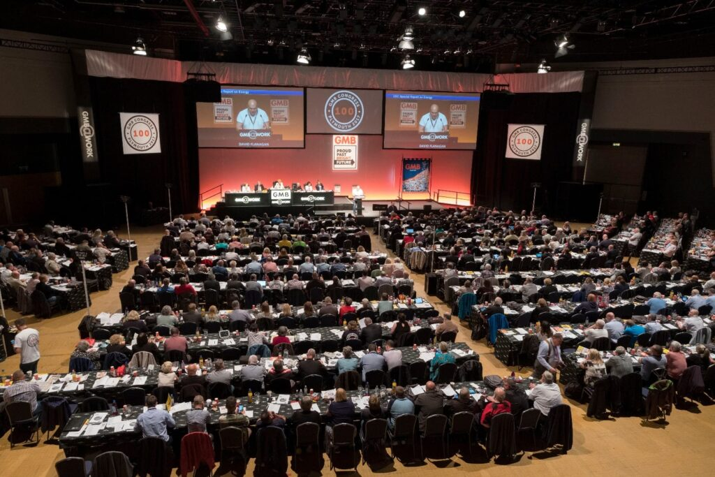 GMB Congress, booked in at Blackpool's new conference centre