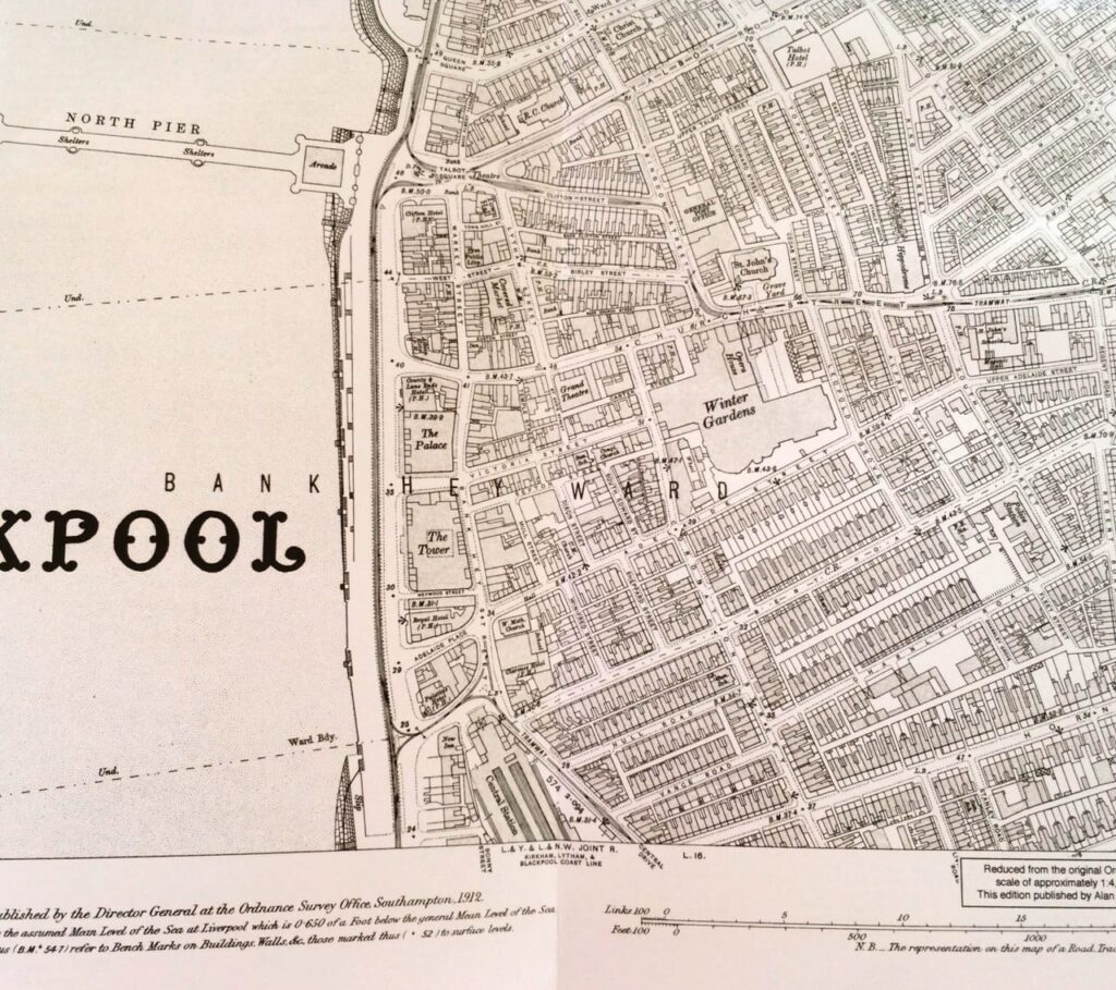 Godfrey Edition map of Blackpool from 1910
