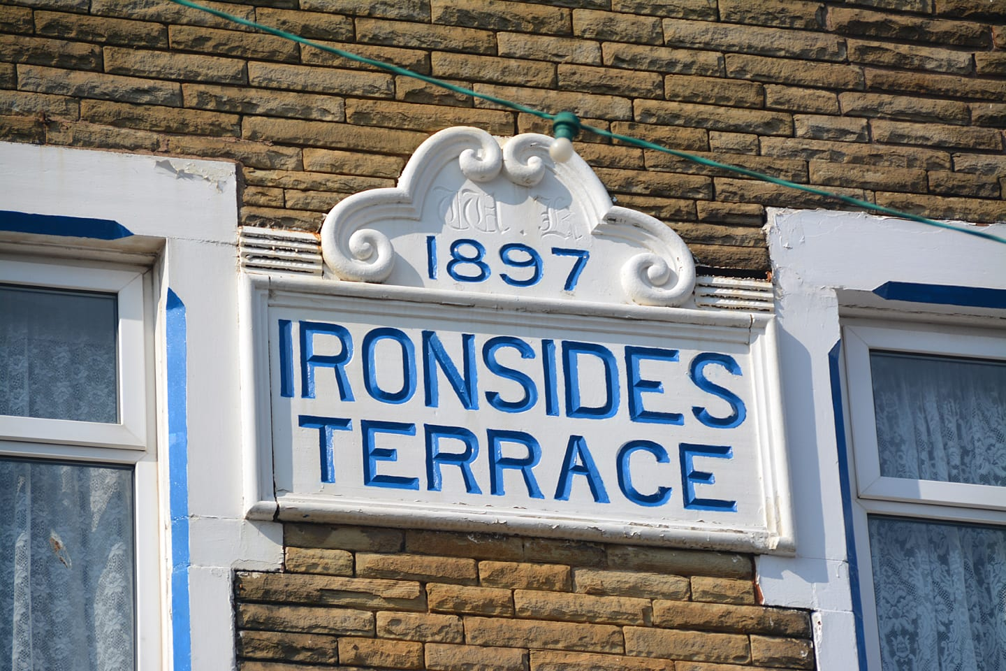 1897 nameplate on Ironsides Terrace, one of many traces of Blackpool's past