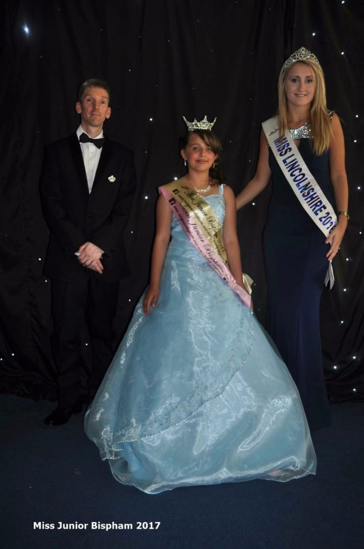 Jessica Jones with the current Miss Junior Bispham