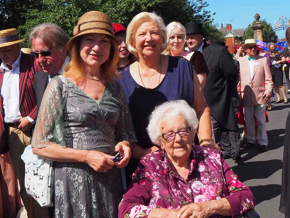 Joan Humble and Jean Sanderson from Blackpool Civic Trust with Edith Wilkinson who is also a member of Blackpool Civic Trust. Edith was 5yrs old when she attended the original opening of the park over 90years ago. She also still attends meetings of Blackpool Civic Trust.