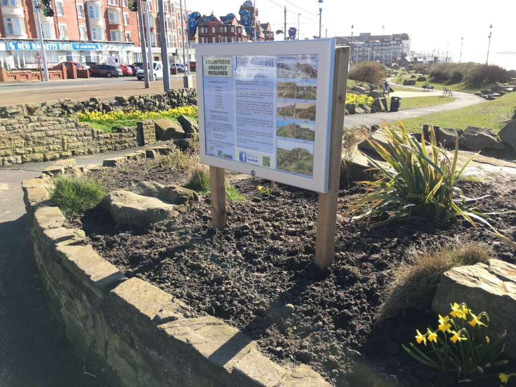 Improvements made by the Friends of Jubilee Gardens Blackpool