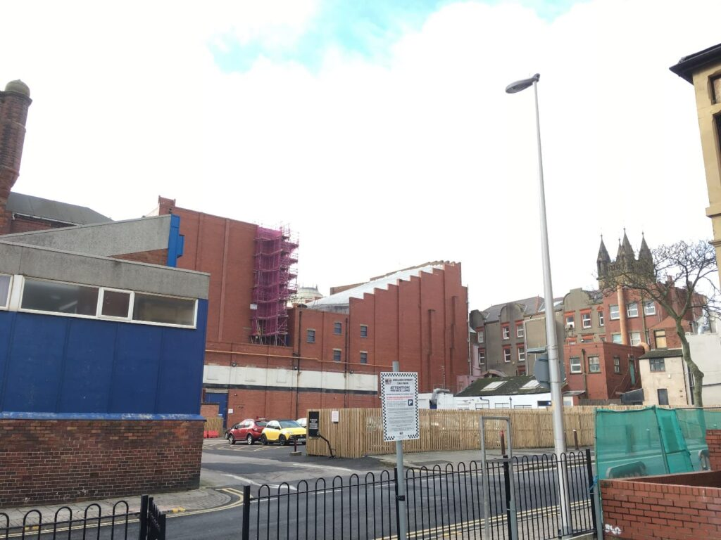 Building site at Leopold Grove for Blackpool's new conference centre. It used to be a car park.