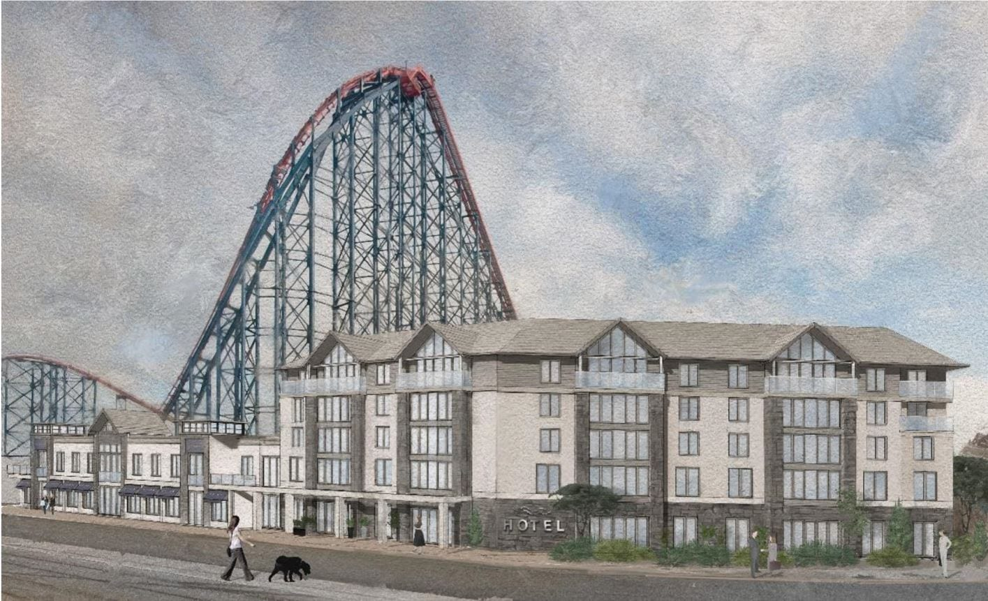Artists impression of the new hotel at Blackpool Pleasure Beach