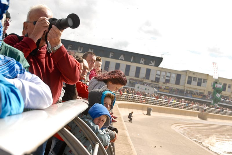 Photographers at Blackpool Airshow