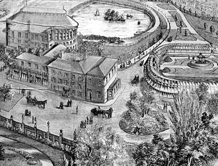 Raikes Hall and Gardens in 1880