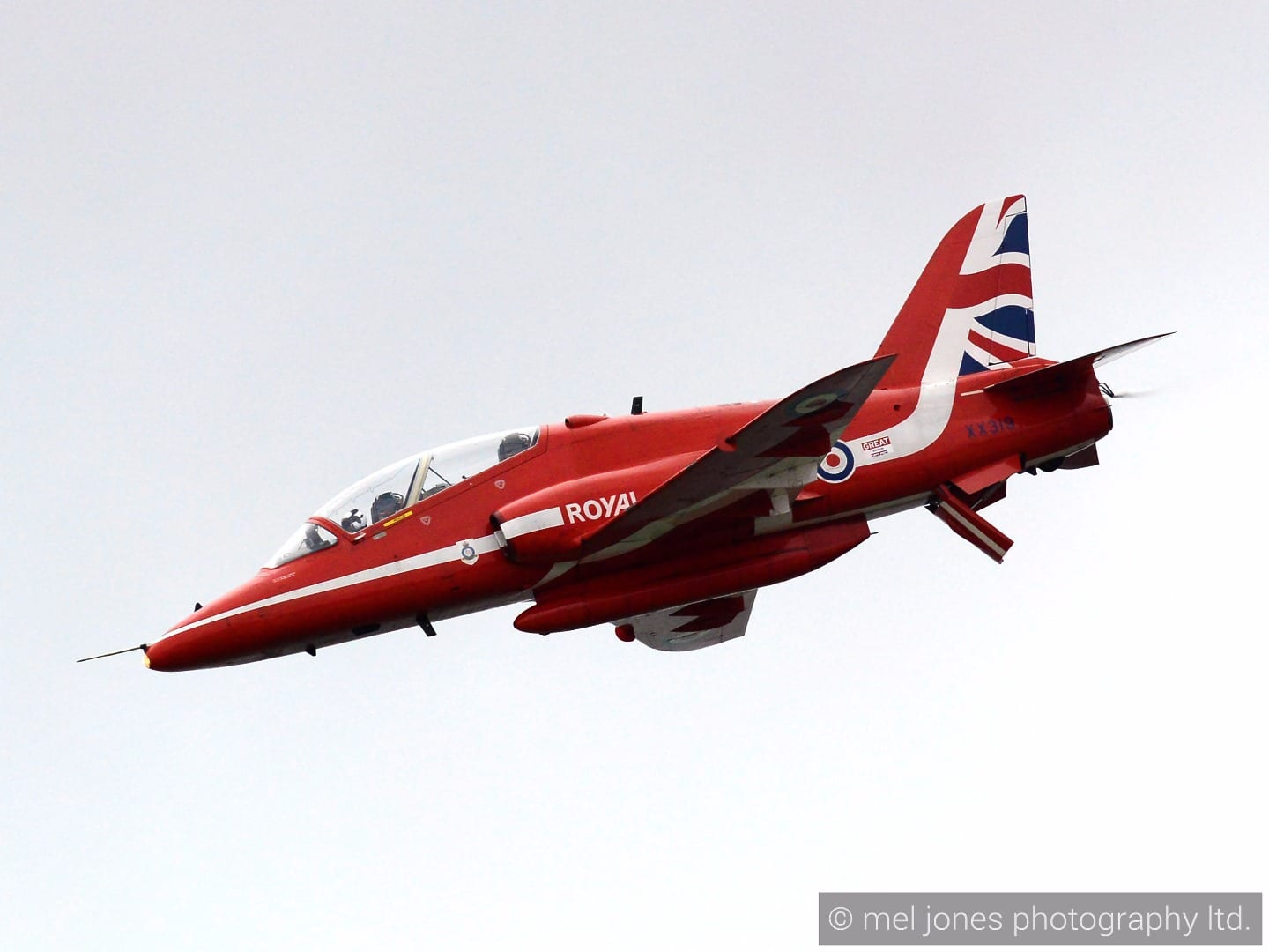 Red Arrows jet at Blackpool Airshow 2015, Mel Jones Photography