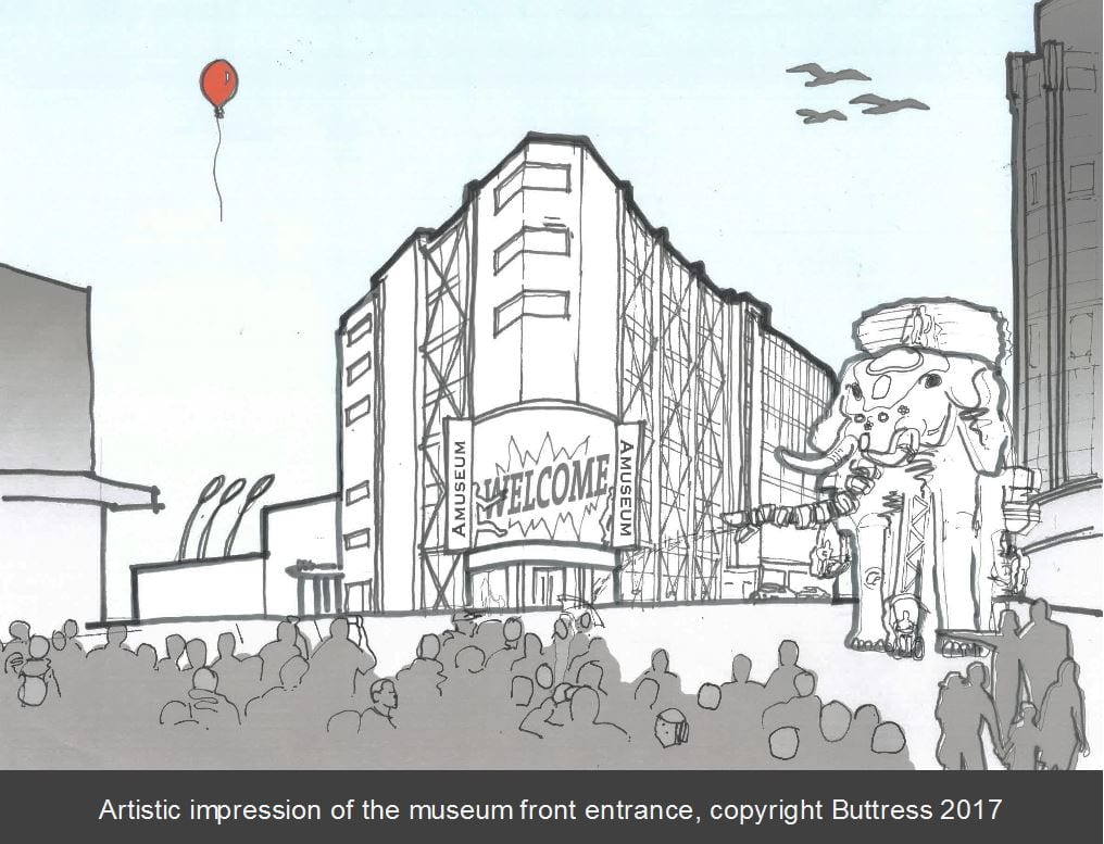 Proposals for Blackpool Museum in the new Sands development on the promenade
