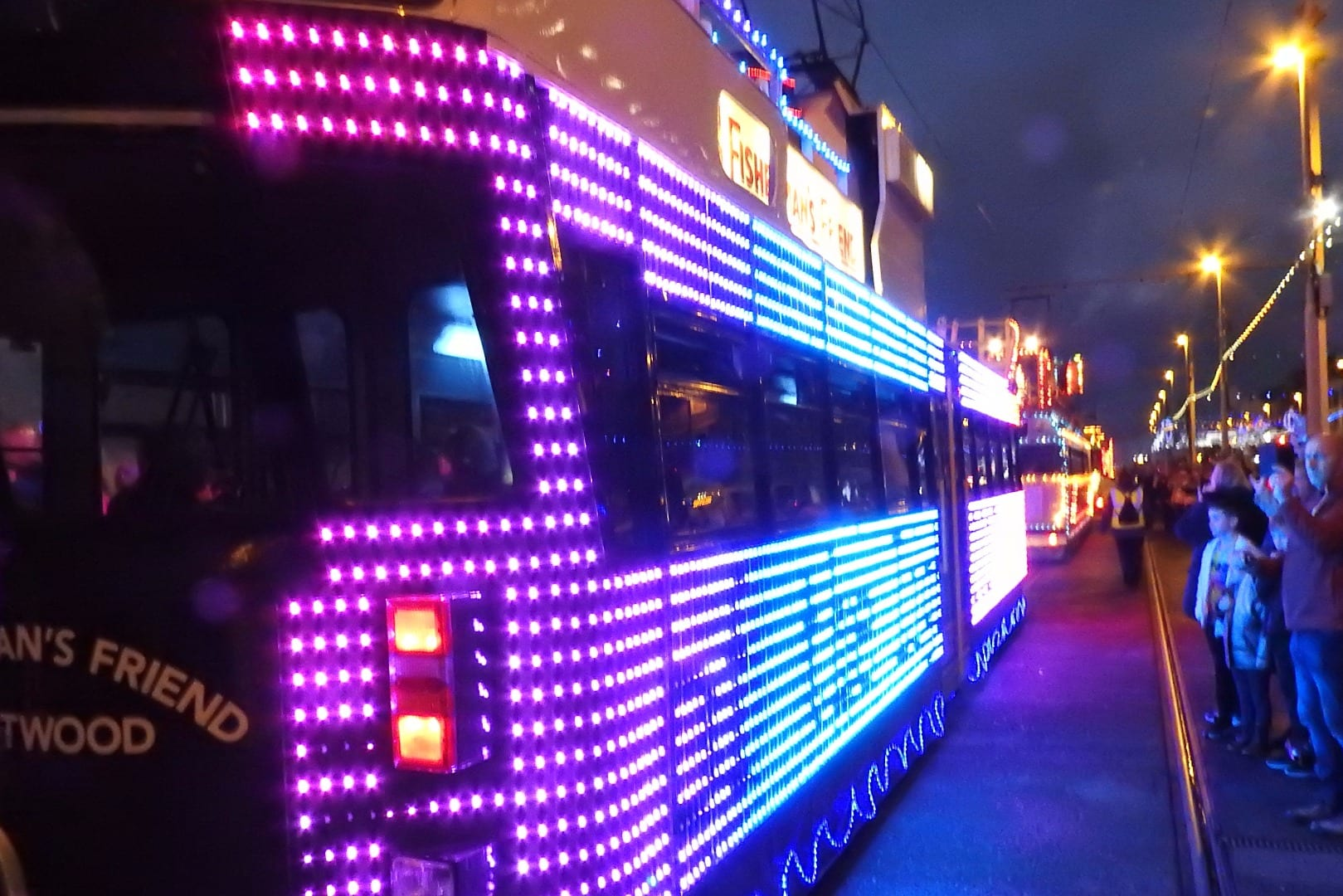 Illuminated Tram Parade, photo Barrie C Woods