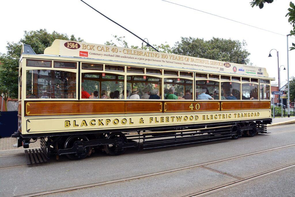 Tramcar Box 40 in Fleetwood