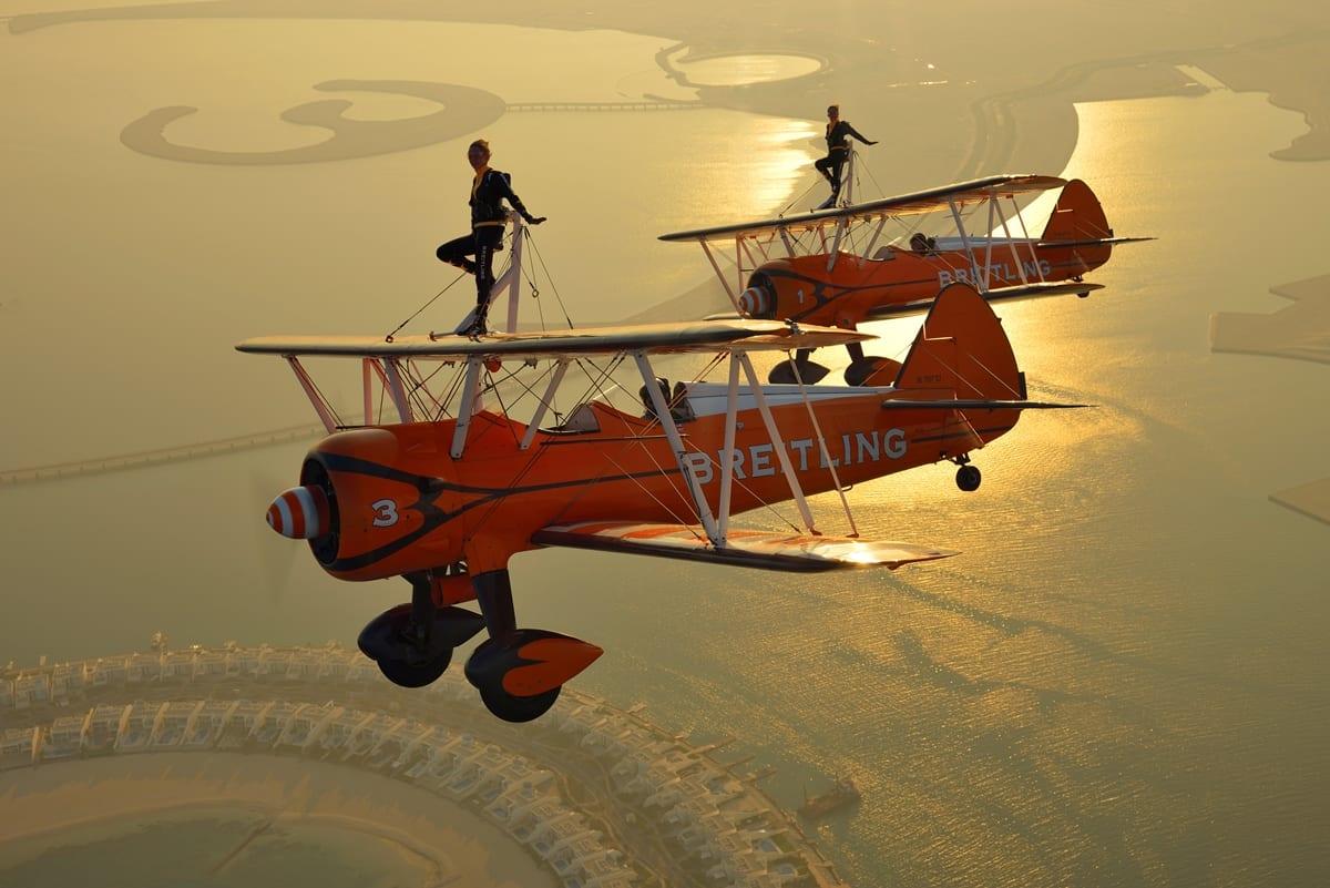 Wingwalkers at Blackpool Airshow
