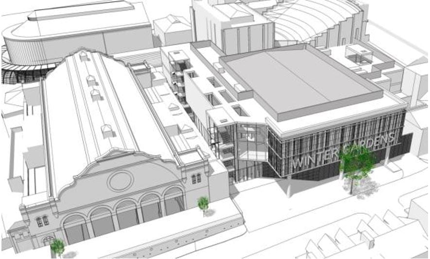Artists impression of Blackpool's NewConference Centre.