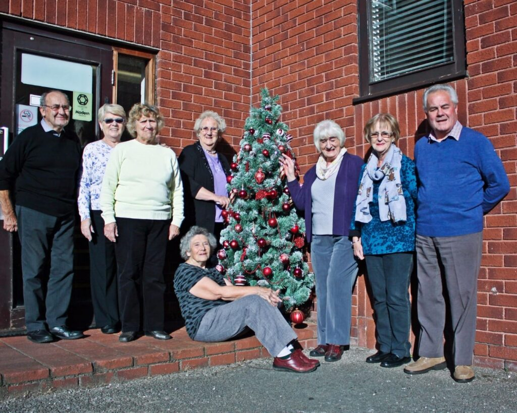Winter Gardens Trust team and their Christmas Tree Festival