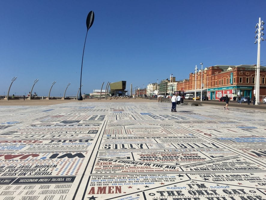 Comedy Carpet on Blackpool Central Promenade at Tower Festival Headland