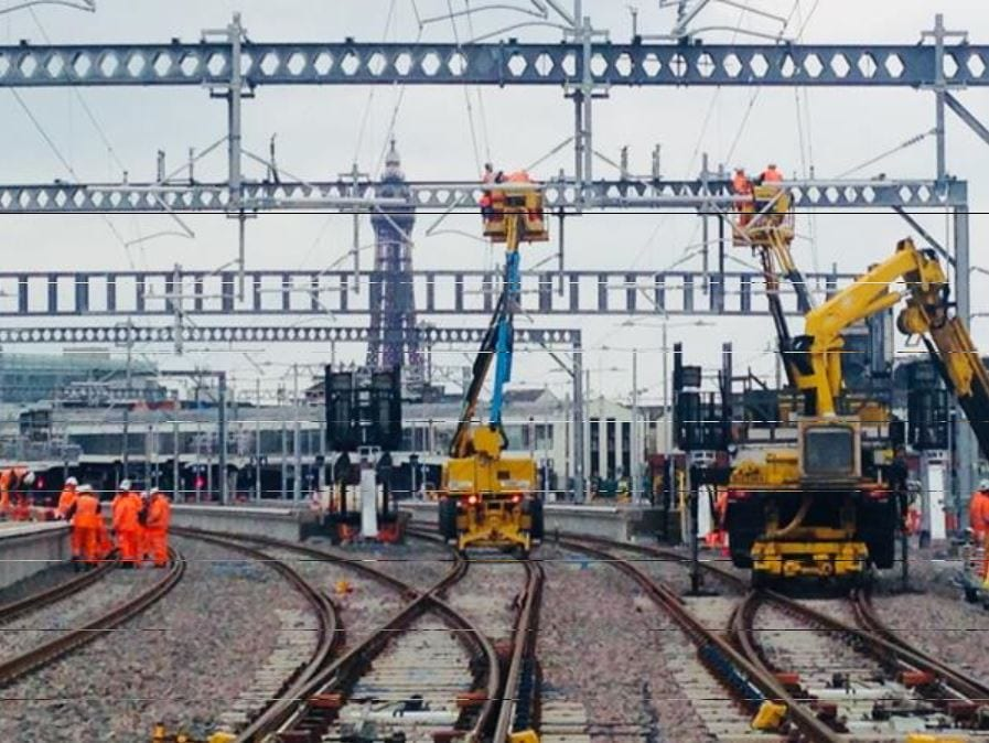 Electrification of the Blackpool Railway Line - Blackpool North Station