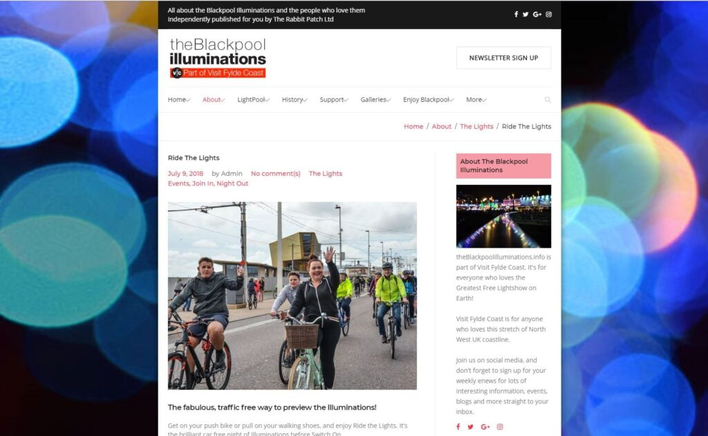 Everything about Ride the Lights on theBlackpoolilluminations.info - the website about the Lights from Visit Fylde Coast
