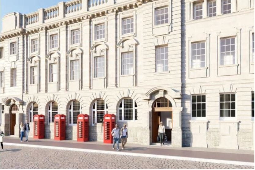Artist's impression of the Red Box Quarter when Blackpool Post Office is redeveloped
