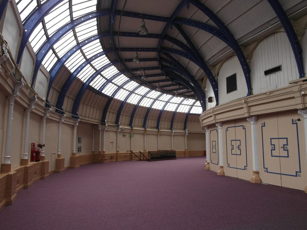 The Horseshoe at Blackpool Winter Gardens, the Pavilion Theatre is behind the right hand wall