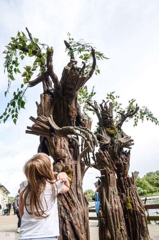 Strolling trees at Wordpool Festival Blackpool