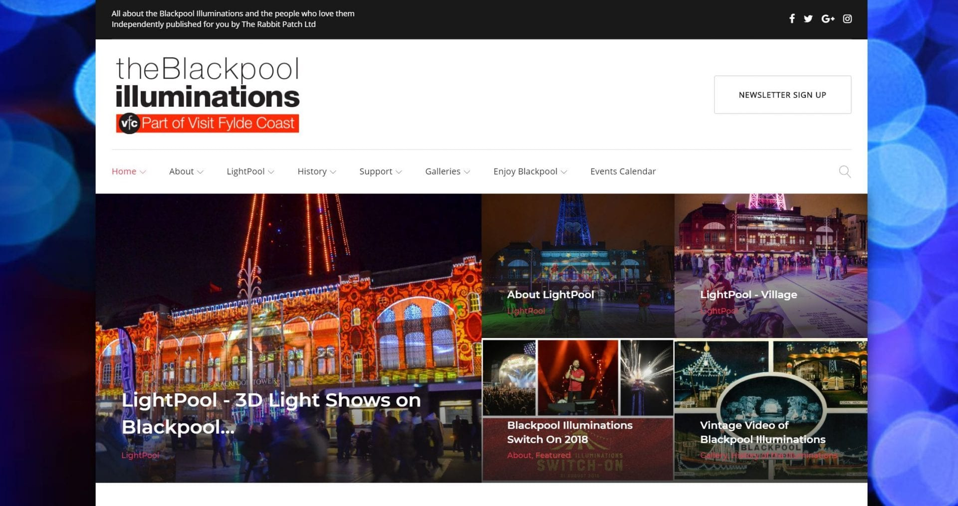 The Blackpool Illuminations website from Visit Fylde Coast