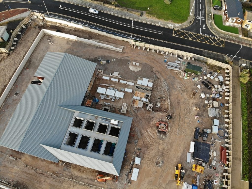 Late 2018 at Anchorsholme - United Utilities Wastewater Works. Thanks to DJI Mavic Air Drone
