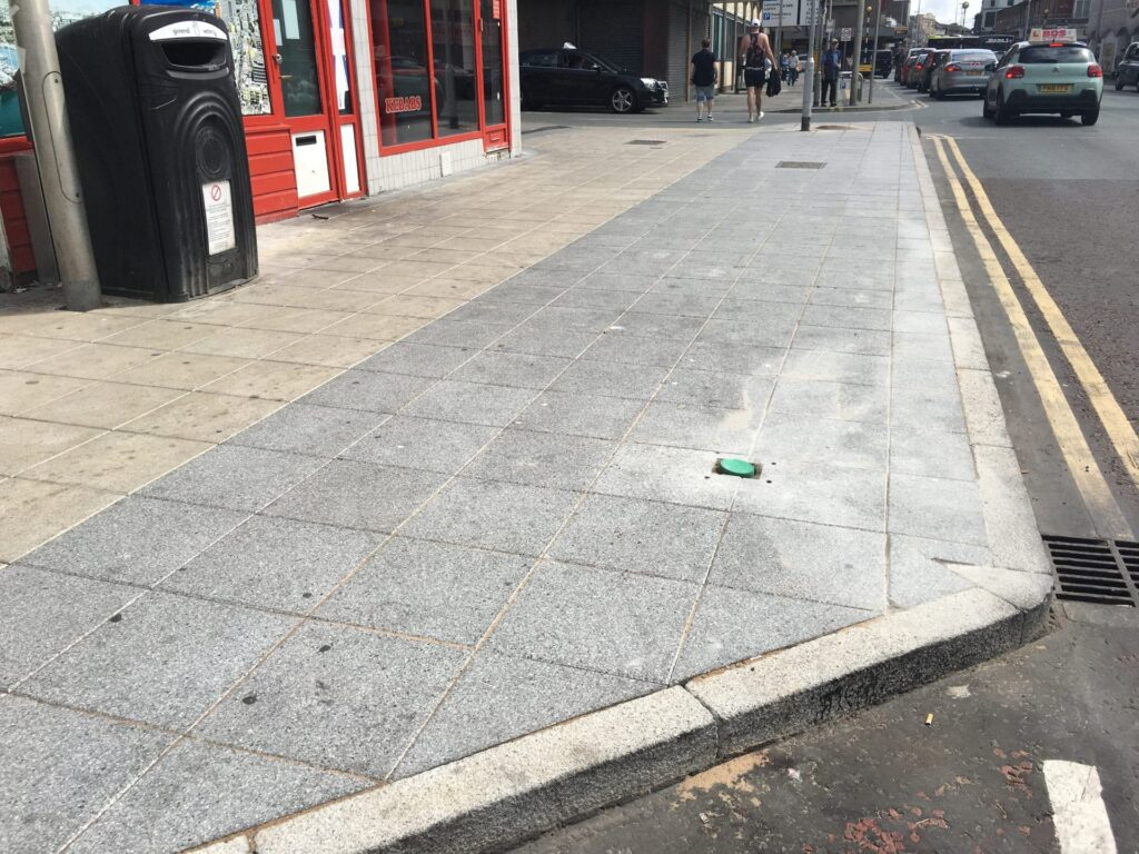 New pavements on Dickson Road, some of the Blackpool town centre improvements