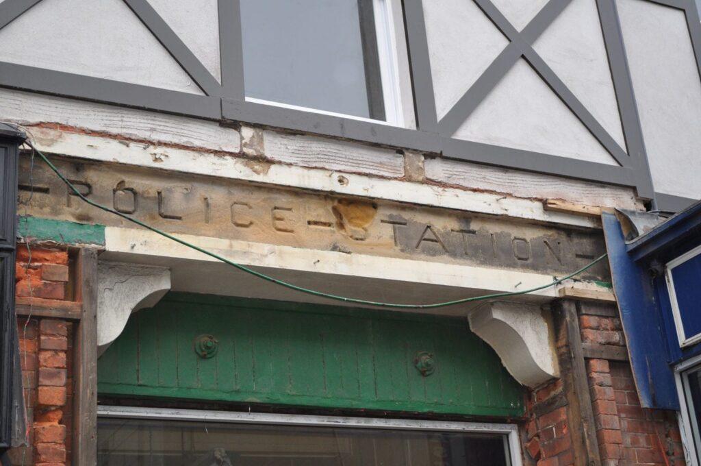 Police station sign at Abingdon Street Market. Photo: Juliette Gregson