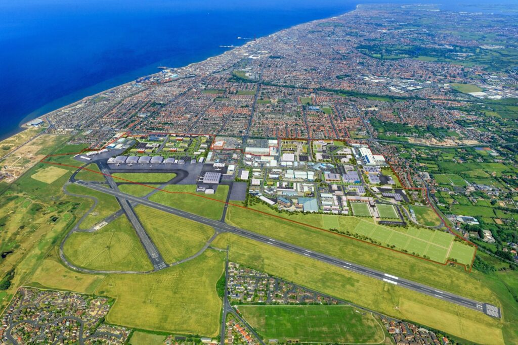 Blackpool Enterprise Zone, aerial view