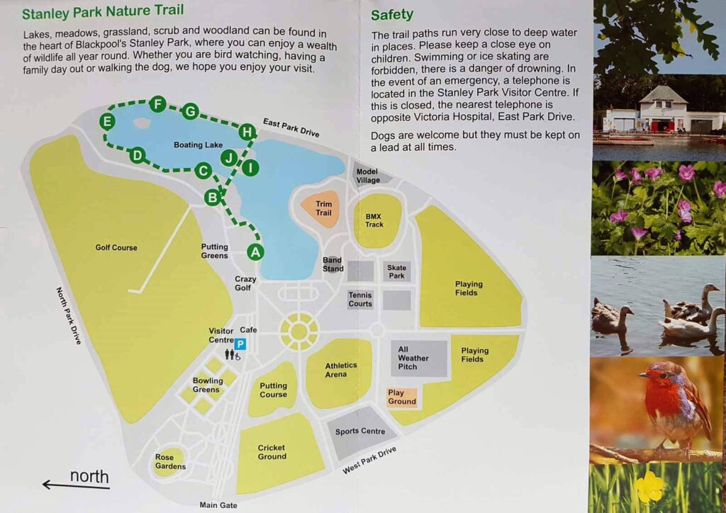 Stanley Park Nature Trail map