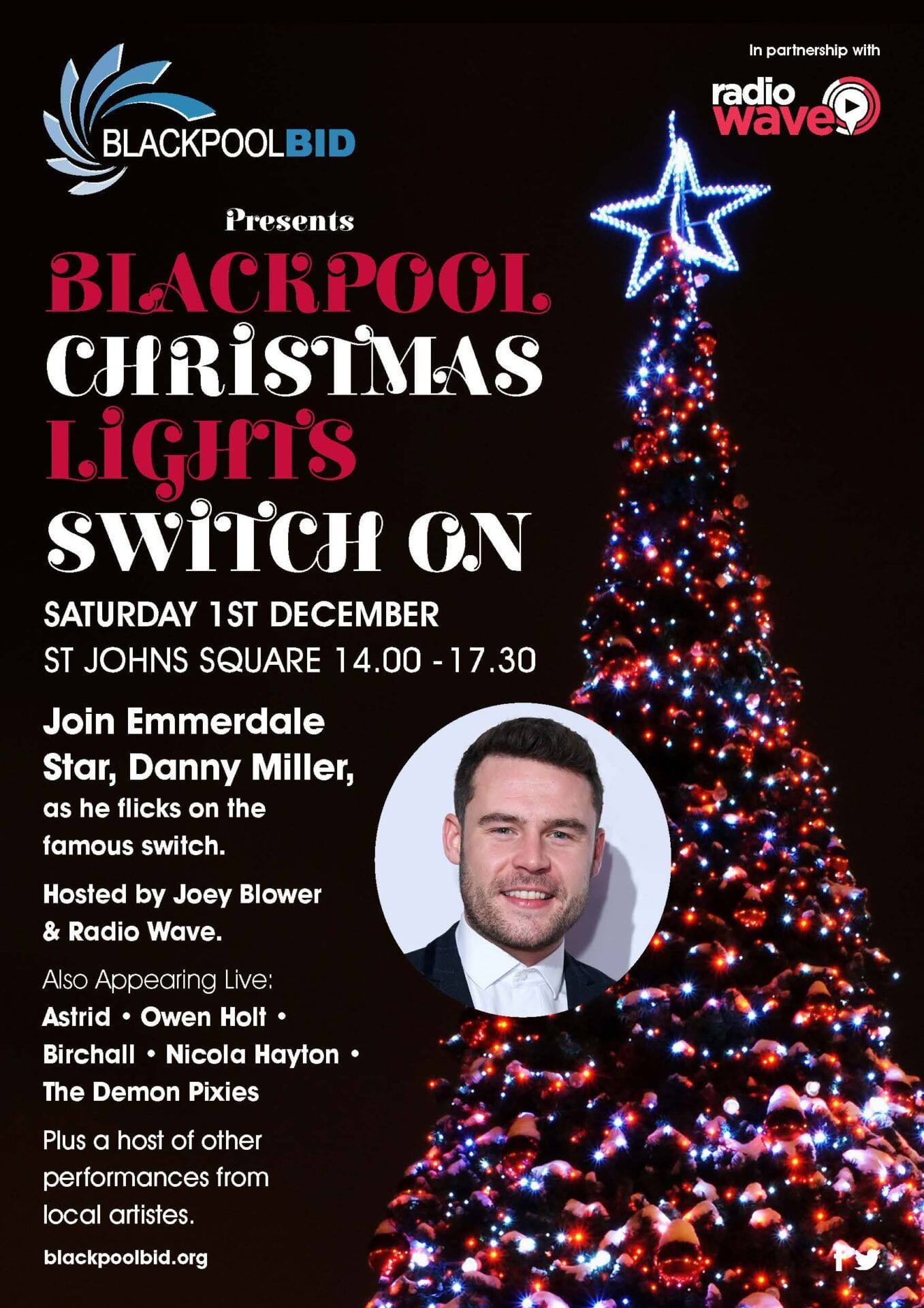 The Christmas Switch.Blackpool Christmas Lights Switch On Live Blackpool