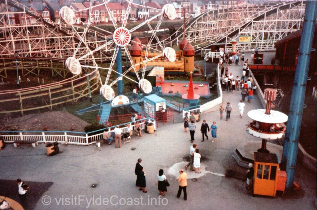 Children's area at Blackpool Pleasure Beach. Old Blackpool photos, archives from Visit Fylde Coast