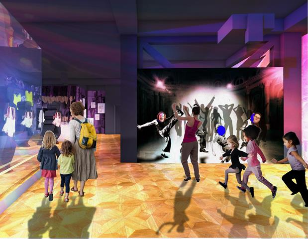 Everybody Dance Now, proposal for one of the displays at Blackpool Museum. Photo: Casson Mann 2018