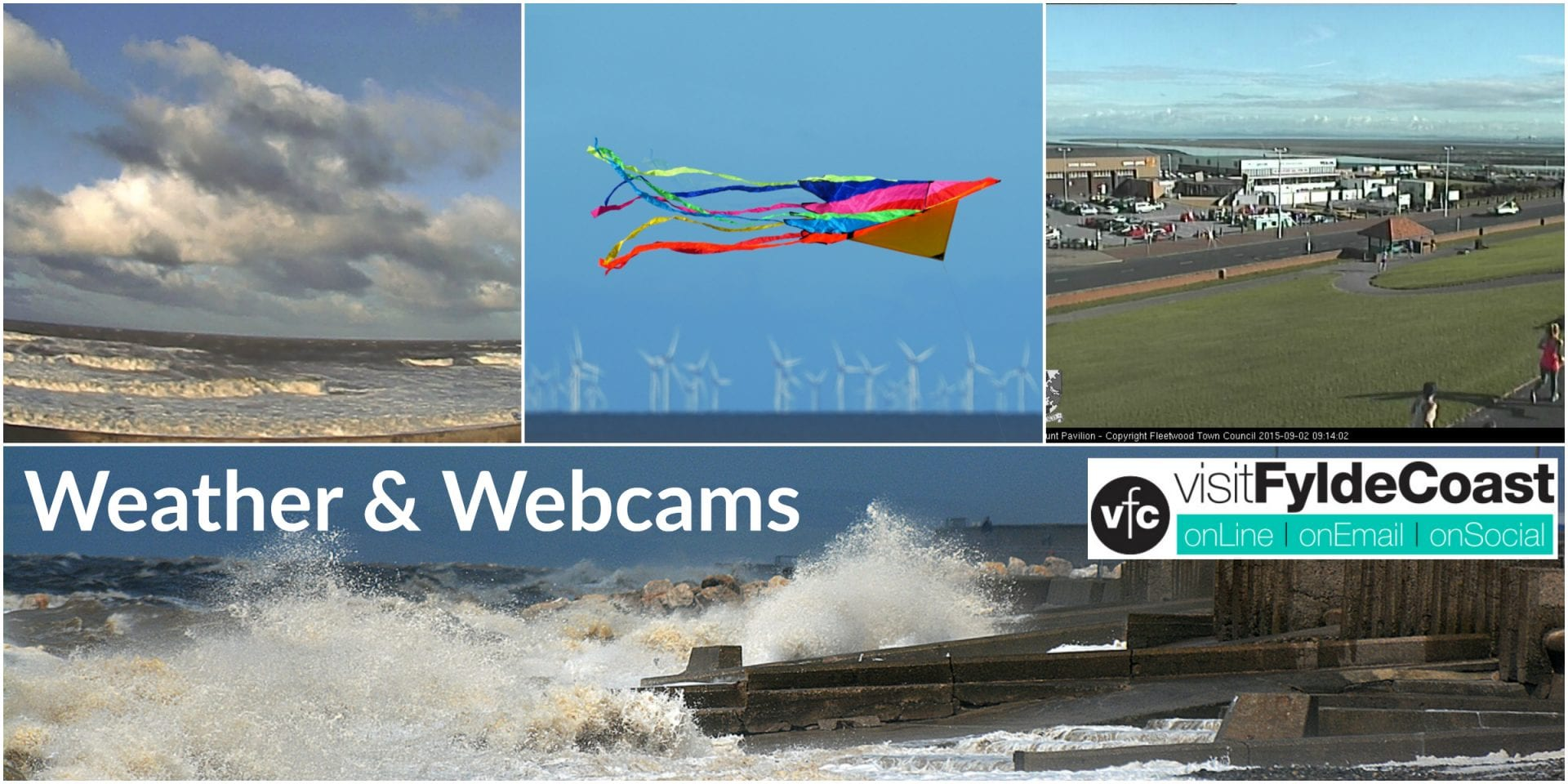 Watch the Fylde Coast with webcams live from the seafront. Plus lots of local weather information.