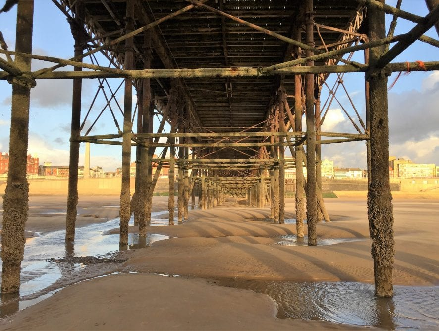 Under Blackpool Pier, by Cameron McDade