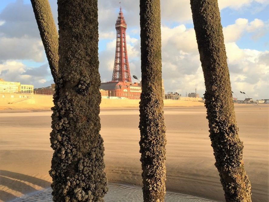 Blackpool Tower through the Pier, by Cameron McDade