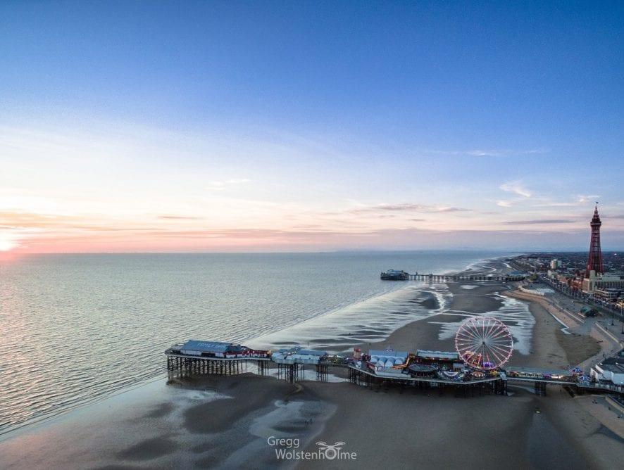 Blackpool Piers by Gregg Wolstenholme