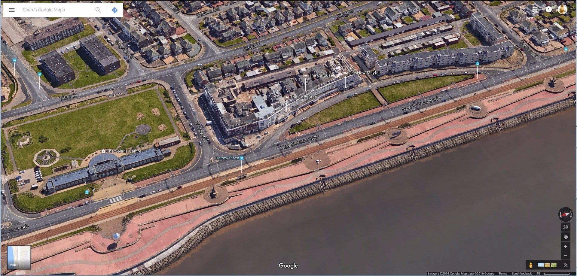 New South Promenade Blackpool, residential flats. Photo: Google maps
