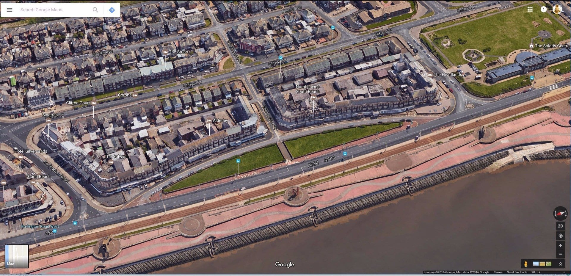 New South Promenade Blackpool, holiday accommodation. Photo: Google maps