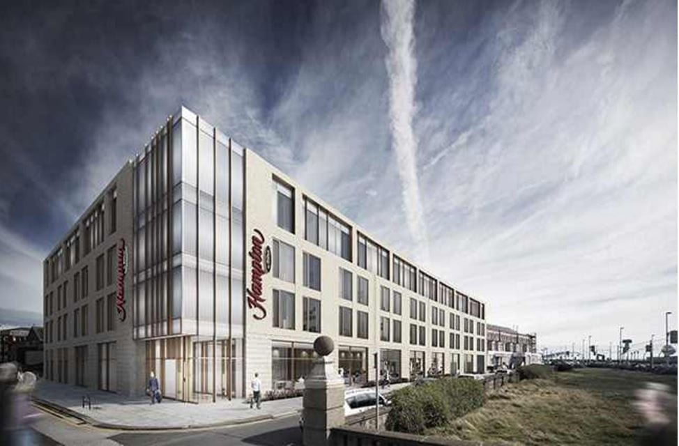 Artists impression of Hamptons By Hilton Hotel at Blackpool South Shore