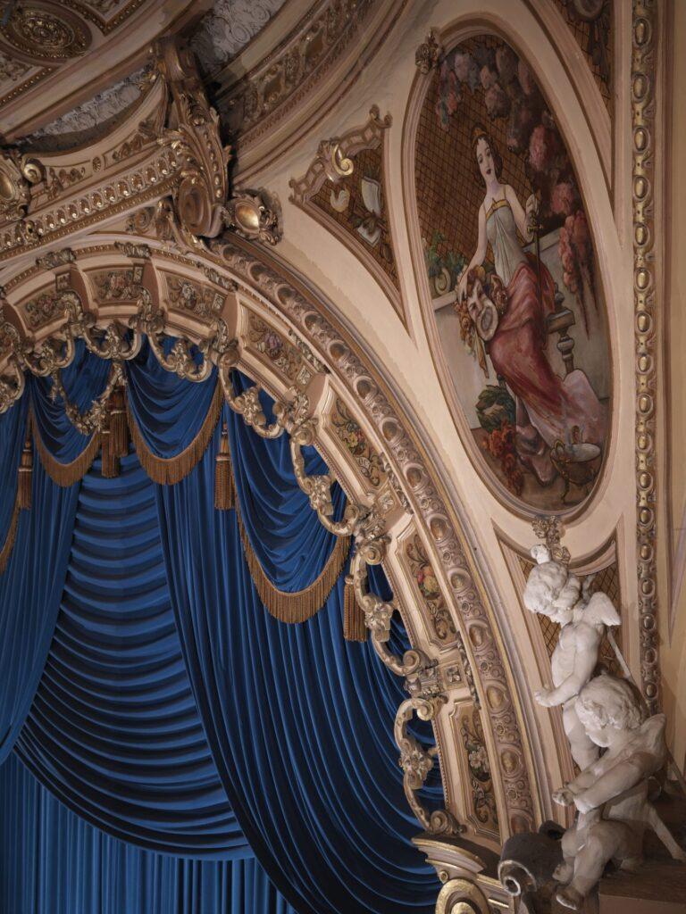 Ornate plasterwork inside Blackpool Grand Theatre. Photo: Sean Conboy