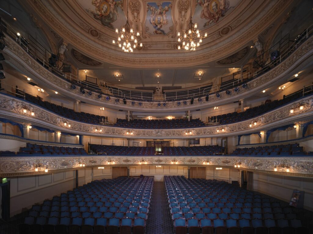 Cantilevered seats and balconies at Blackpool Grand Theatre